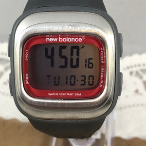 Vintage New Balance Crimson & Gray  Sports Watch